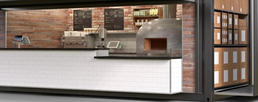 Bergamo s'inventa la «pizzeria mobile» Così riprendono vita i vecchi container