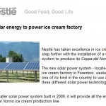 Nestlé uses solar energy to power ice cream factory